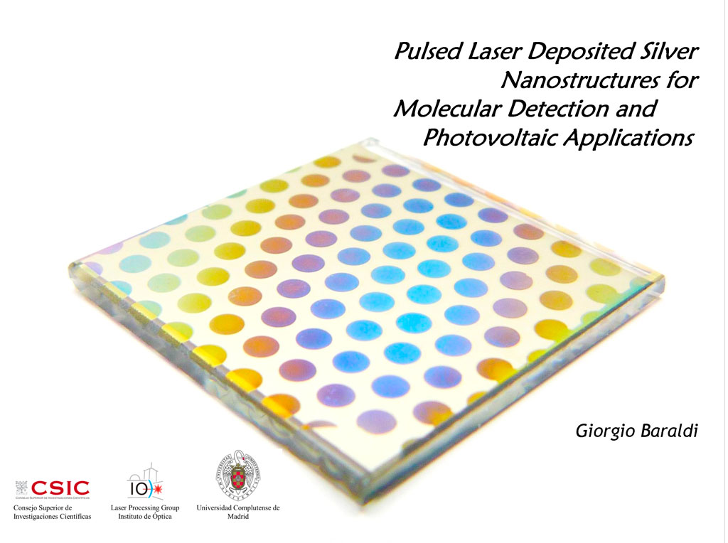 Pulsed Laser Deposited Silver Nanostructures for Molecular Sensing and Photovoltaic Applications