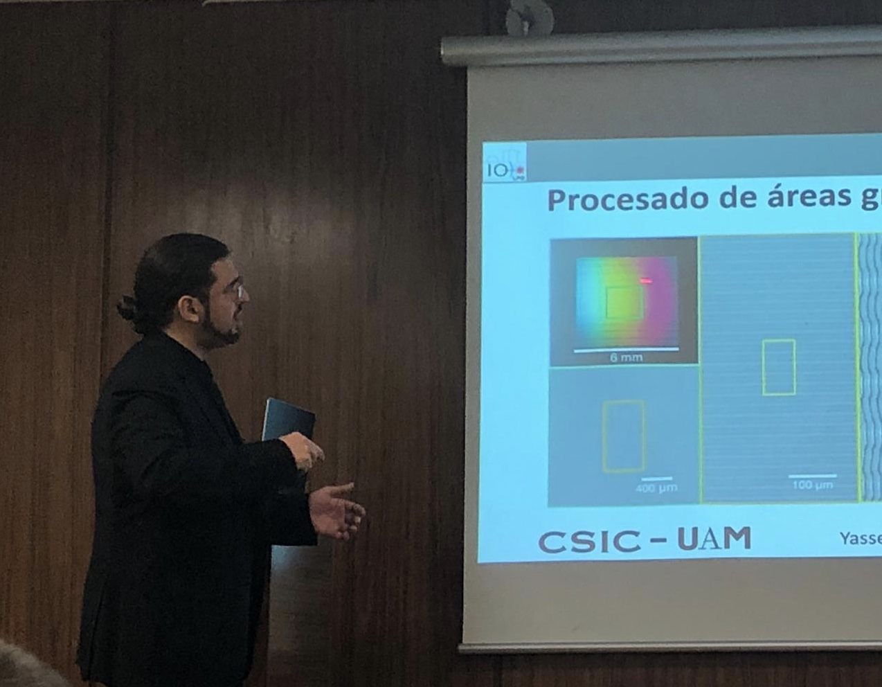 Yasser Fuentes presented his doctoral thesis
